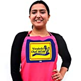 #8: Indigifts Mummy Gifts for Birthday Wonderful Chef Mom 24 x 7 Available Quote Pink Apron 26x30 inches - Best Gift for Mother-Mom-Mummy-Maa-Birthday-Anniversary, Mothers Day Gift, Apron for Mom