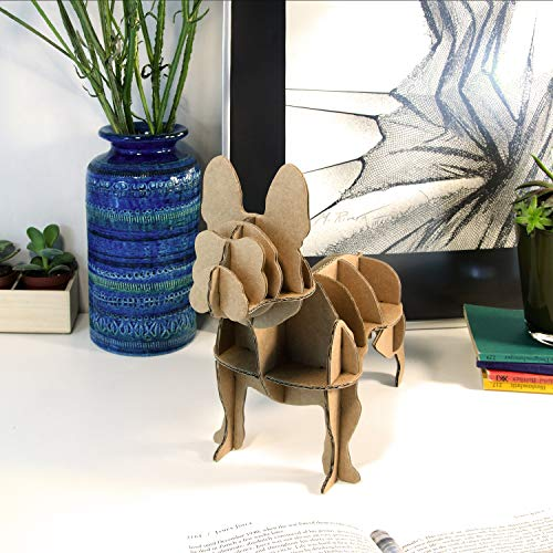 Milimetrado Bloc rado–Mini Bulldog Francés cartón Perro–Dekoratives Imagen o Figura