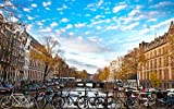 Poster Amsterdam - Nederlands - Bicycles - Olanda