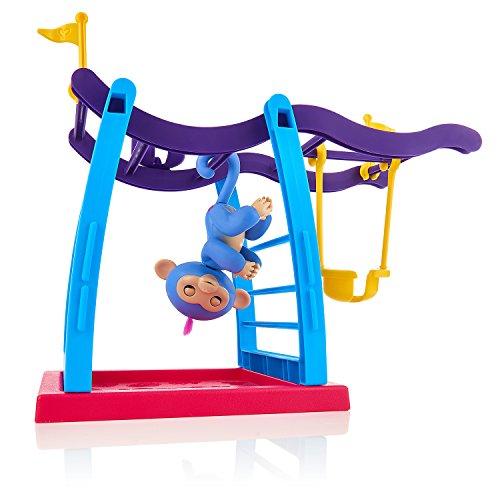 Fingerlings Spielset Klettergerüst mit Affenschaukel und Äffchen blau mit pinkem Haar Liv 3731 interaktives Spielzeug, reagiert auf Geräusche, Bewegungen und Berührungen
