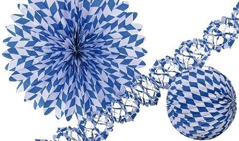 Amscan International Bayerische Papier Dekoration Set (blau/weiß)