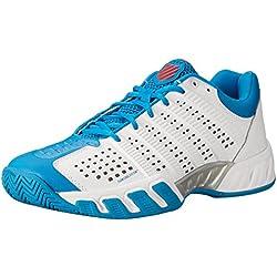 K-Swiss Bigshot Light - Zapatillas para hombre, color blanco / azul, talla 44.5