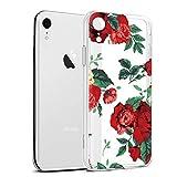 Eouine Coque iPhone XR, Etui en Silicone 3D Transparente avec Motif Animaux Fleur...