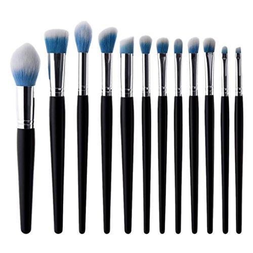 IPOTCH 12 Pcs Kabuki Brosses Eye Shadow Liner Blush Lèvres Maquillage Brosse Fondation Ensemble