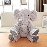 CushionsHome Soft Elephant Plush Toy Pillow Doll Cuddly Stuffed Animal Baby Accompany Dolls For Kids