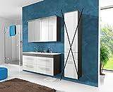 Badmöbel Set 'COSMO 120 cm Weiss' Badezimmer mit Waschbecken ohne Hochschrank