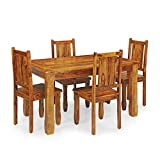 #7: Royal Oak Emerald Four Seater Dining Table Set (Natural)