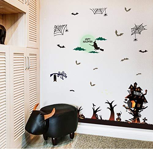 Wandaufkleber Halloween Haunted House Bar Dekoration Wandaufkleber Fensterglas Wandaufkleber Steuern Dekor Wohnzimmer Aufkleber Wandbild (Einfache Dekorationen Im Halloween Innenbereich)