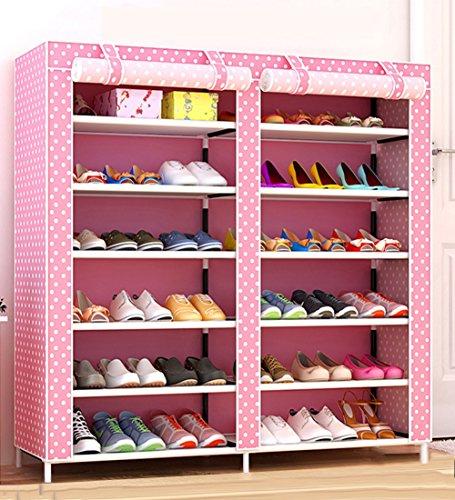 LIQICAI Schuhschränke Schuhregal Mit Deckel Einstellbare Vertikale Schichtdistanz Raumsparer 120 X 30 X 110 cm, Mehrfarbig Optional (Farbe...