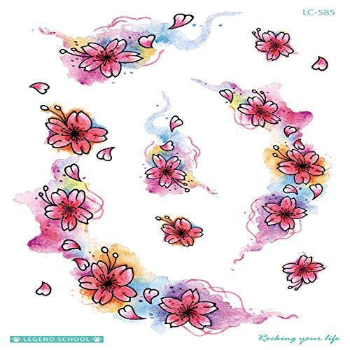 zgmtj Blume Arm Tattoo Aufkleber Pfau Tier bunt Tattoo Aufkleber LC-585 210 * 150mm
