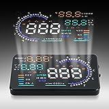 """HUD OBD2 reflectante Velocidad 5.5""""color gran pantalla coche Proyector Segudidad"""