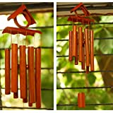 Paradigm Pictures Bamboo Wind Chime for Home Decor Positivity & Natural Sound (Water Drop Sound)