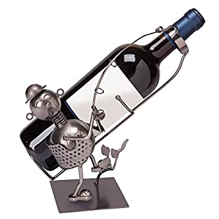 The Paragon Wine Holder - Fisherman Shaped Funny Wine Bottle Holder Stand