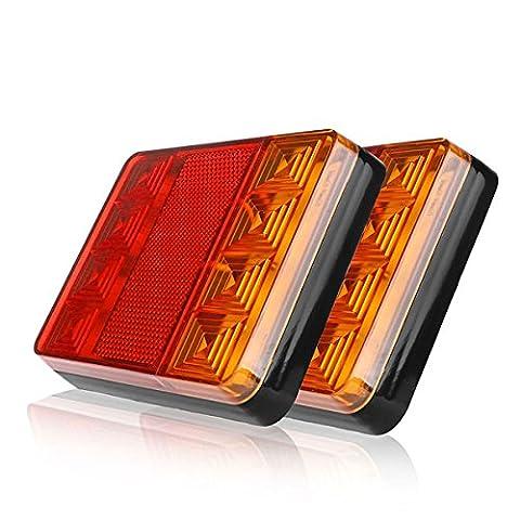 Onever Voiture Camion Remorque LED Feux arrière, Tournez Signal inverse