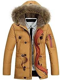 Glestore chaqueta para hombre de piel desmontable Chaqueta a prueba de viento