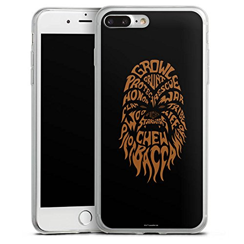 Apple iPhone X Slim Case Silikon Hülle Schutzhülle Star Wars Merchandise Fanartikel Chewbacca Typo Silikon Slim Case transparent