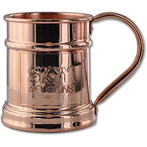 15oz SKYY Vodka Solid Copper Moscow Mule Stein By Paykoc MM11010/SKY by Paykoc Imports, Inc.
