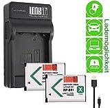 LOOKit Ladegerät + 2x LOOKit Akku BX1 (echte 1190mAh) für Sony DSC HX99 HX95 HX350 DSC-RX100 V FDR-X3000R HDR-AS300R HX350  DSC-RX100M5 HX80B  RX100 IV  HDR-AS50 HX90 V RX100 III RX1R HDR-AS100V