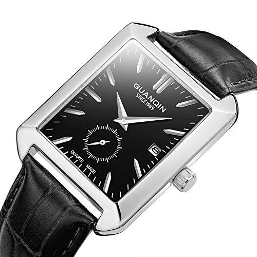PXX Relojes- Minimalista Hombres 'S Reloj cuadrado impermeable Modelos de moda Cinturón Casual Mesa...