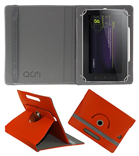 Acm Rotating 360° Leather Flip Case for Karbonn Ta-Fone A34 Cover Stand Orange  available at amazon for Rs.149