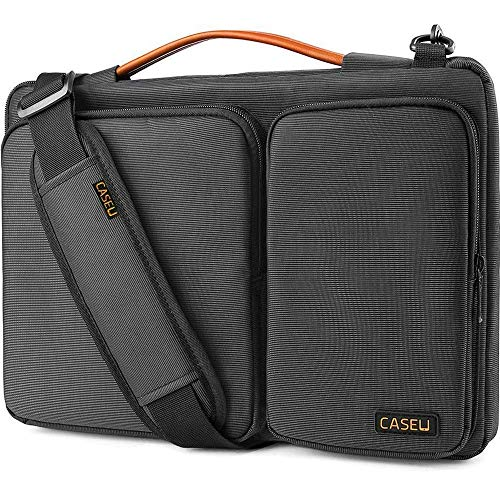 CASE U 13.3 inch Laptop Shoulder Bag with CornerArmor, 360° Protective Laptop Sleeve for 13-14 inch MacBook Air MacBook Pro Retina Surface Dell HP Acer Lenovo Chromebook Ultrabook Laptop (13-14 inch)
