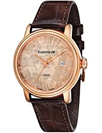 Thomas Earnshaw Men's Swiss Made Limited Edition Quartz Watch with Rose Gold Dial Analogue Display and Brown Leather Strap ES-0026-03