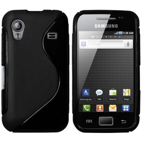 mumbi TPU powerGRIP Silikon Skin Case für Samsung Galaxy Ace S5830 S5830i Silicon Tasche Hülle - Ace Schutzhülle schwarz