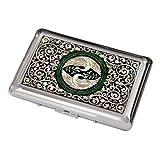 Portasigarette In Madreperla Con Design Coppia Di Gru Astuccio Scatola Per Sigarette In Metallo Acciaio Inossidabile