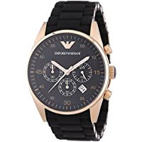 Armani Mens AR5905 Sportivo Watch (Black and Gold)