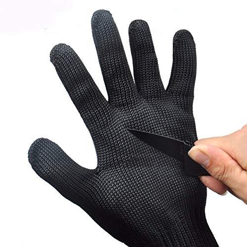 Yjlgryf guanti guanti protettivi esterni tagliati a prova di protezione anti-coltello anti-coltello tagliati a mano filo filo autodifesa anti-scivolo guanti antiscivolo, guanti di sicurezza per cucina