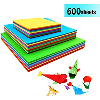 Multi-Color 100 Sheets Double Sided Origami Paper A4 10 Colour Craft Paper 120GSM for Arts and Crafts Projects