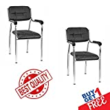 #10: Combo of Nice Goods 502 Office Executive/Employee/Staff/Office Chair (Black, Pack of 2)