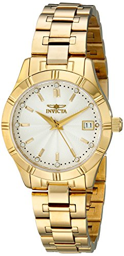 Invicta Women's Specialty 32mm 18K Gold Plated Bracelet & Case Swiss Quartz Silver-Tone Dial Watch 18126