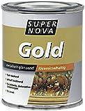 Super Nova Gold-Effektlack zur Erzeugung metallisch glänzender Oberfläche / 125 ml / lösemittelhaltig / Goldlack f. Metall, Hart-PVC , Holz, Keramik u. Glas / für den Innenbereich