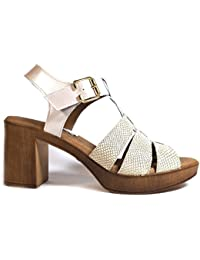 9dbca3b4529c3 Amazon.es  Pitillos Zapatos - Sandalias de vestir   Zapatos para mujer ...