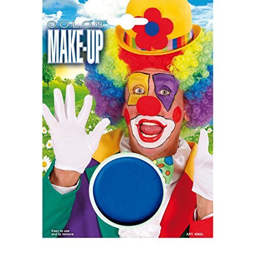 Amakando Clown Make Up Karneval Schminke blau Makeup Schlumpf Theaterschminke Farbe Schminkfarbe Halloween ()