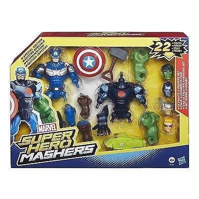 Marvel Super Hero Mashers Juego de figura de acción, 22 piezas (Hasbro B1431)