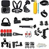 Cinhent Outdoor Sports Camera Accessories Kit - 44-in-1 for DJI OSMO Action Camera