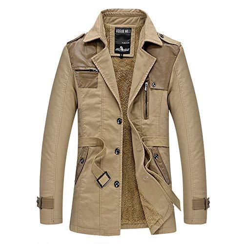 NPRADLA 2018 Mode Jacke Herren Slim Fit Einfarbig Elegant Warm Herbst Winter Lässige Tasche Taste...