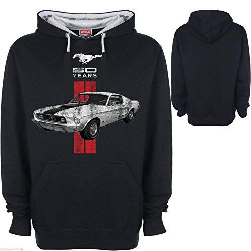 hotrod-58-ford-mustang-sweat-shirt-capuche-homme-s-multicolore-s