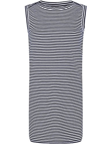 oodji Ultra Femme Robe en Maille Piquée Bleu (7910S)