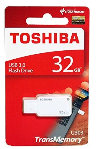 Toshiba TransMemory U303 USB 3.0 32GB Pen Drive (White)