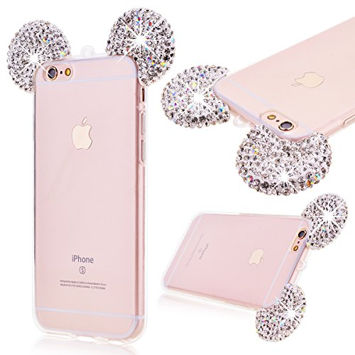grandever-weich-silikon-handyhulle-fur-iphone-6-iphone-6s-tpu-durchsichtig-zuruck-strass-diamant-mau