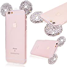 GrandEver Custodia UltraSlim TPU per Apple iPhone 6 6S (4.7 pollice) Cover in Gel TPU Silicone Case Morbida Trasparente e Cristallo Bling Strass Protettiva TPU Case Resistente ai Graffi Anti Scivolo Case Posteriore Della Copertura Della Protezione Anti-urto per iPhone 6 6S 4.7