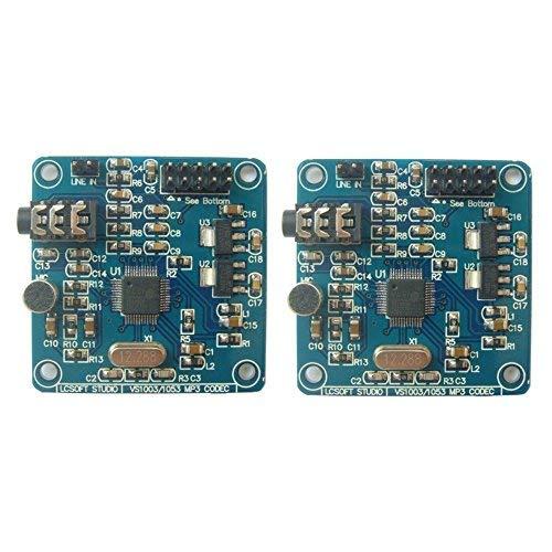 Optimus Electric 2pcs VS1003 MP3/WMA/MIDI Audio Digital-Analog Codec with on-Board Microphone from - Wma Wav Converter