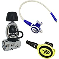 "Scuba Choice Palantic AS105yugo/scas2061""travel Lite"" ajustable regulador y octopus Combo, Blue(01)"