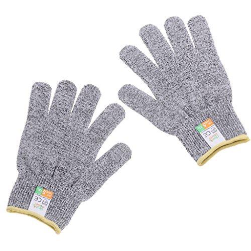 Sharplace Schnittfeste Handschuhe Arbeitshandschuhe lebensmittelecht Schnittschutzhandschuhe - XXL