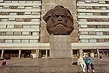 580061 Statue Of Karl Marx Chemnitz Saxony A4 Photo Poster