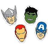 Avengers Erasers 12pk favour party bag filler IRONMAN, HULK, CAPATIN AMERICA, THOR