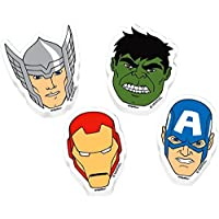 Avengers Erasers 12pk favour party bag filler IRONMAN, HULK, CAPATIN AMERICA, THOR by The Avengers
